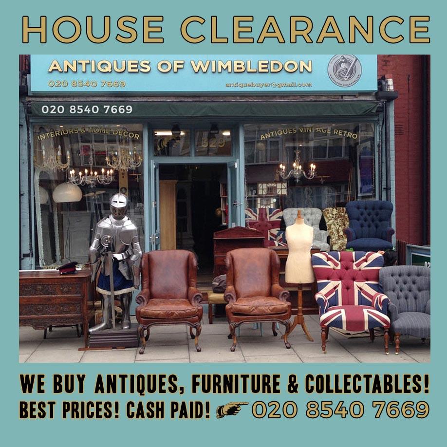 House clearance Wandsworth SW18, House clearance Fulham SW6, House Clearance Wimbledon SW19 and House Clearance Raynes Park SW20